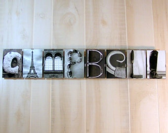 Personalized Last Name Gift,Last Name Wall Art,Family Name Gift,Gift for Newlyweds,Alphabet Photography,Housewarming Gift,Rustic Home Decor,
