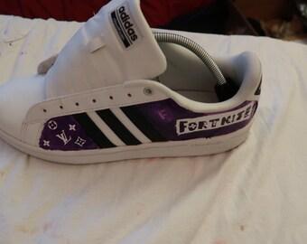 Fortnite X Louis Vuitton custom shoes!