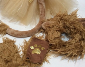 lion costume, lion tutu,Halloween costume, lion Halloween costume, lion mane, lion tail, birthday tutu, jungle party, king of the jungle
