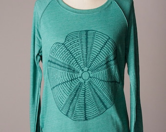 women's pullover sweatshirt, women's sweatshirt, sea urchin, ocean inspired