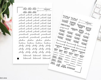Words Stickers | Univ101 | Printable Planner Stickers
