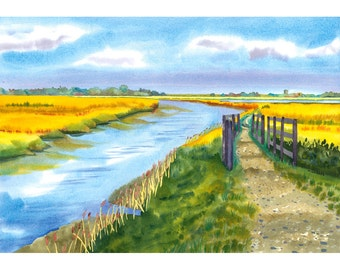 Snape Maltings Landscape Limited Edition Giclee Print