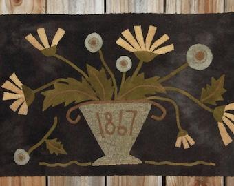 Primitive Wool Applique Pattern - Mixed Flowers by Maggie Bonanomi
