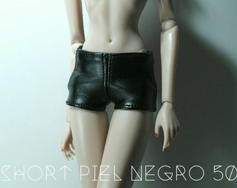 Short in vegan leather for fashion dolls available in 6 colors