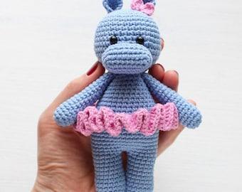 Crochet Stuffed hippo