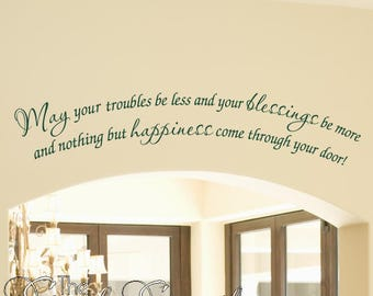 Irish Proverb Doorway Wall Quote - Vinyl Wall Art Decal - Irish Blessings & Proverbs Wall Quotes | St. Patrick's Day Decor