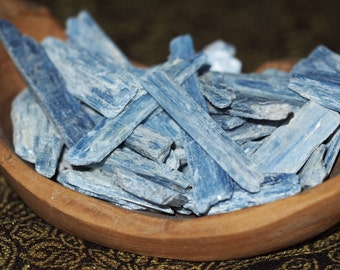 THROAT CHAKRA Blue Kyanite ~ 3 Blue Kyanite Blades - Throat Chakra Healing Crystal