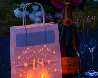 18th Birthday Decor - party lantern bags