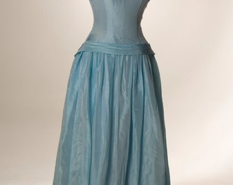 Seafoam Green Fitted Gown