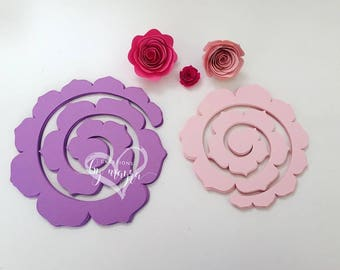 DIY Spiral paper roses / Spiral roses cut outs