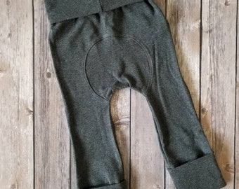 Maxaloones,Grow With Me Pants,Grey Maxaloons,Baby Leggings,Cloth Diaper Pants