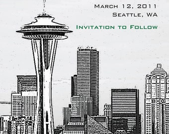 Save the Date or Invitation - Seattle Space Needle