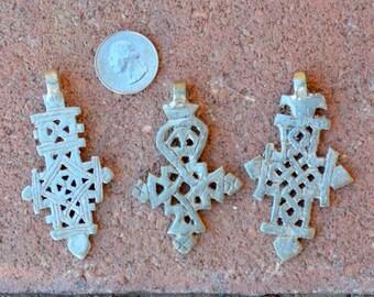 3 Coptic Cross Pendants