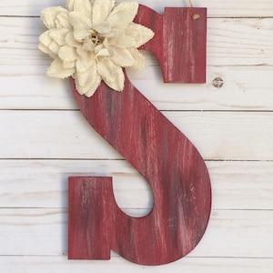 Monogram Door Hanger -  Door Hanger - Door Decor - Rustic Room Decor - Door Decoration  - Monogram Decor - Personalized Gift - Wall Letters