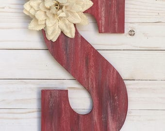 Monogram Door Hanger -  Door Hanger - Door Decor - Rustic Room Decor - Door Decoration  - Monogram Decor - Personalized Gift - Wall Letters