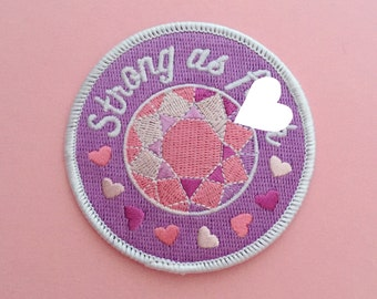 Strong As F**k Iron On Patch - Feminist Patch - Embroidered Patch - Feminist Accessories