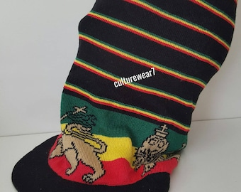 Rasta Hat Lion of Judah XL Black/ Red, Gold, Green #30