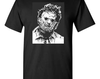 Leatherface Leather Face Texas Chainsaw Massacre Halloween Men's Tee Shirt 1515
