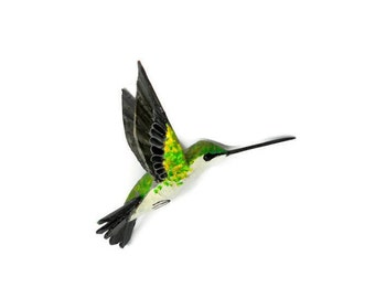 Sculpture and figurines Art Home decorations  in Paper machè Hummingbird art Anniversary gift
