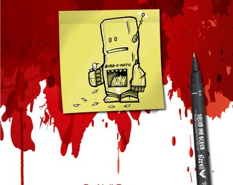 Beastly Bots Book, Robots vs Animals, Doodle, Drawing, Humour, Funny, Illustration, Cartoon Artist Sketch