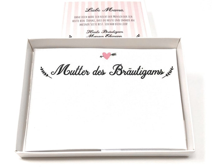Gift mother of the groom-handkerchief for tears of joy to the wedding