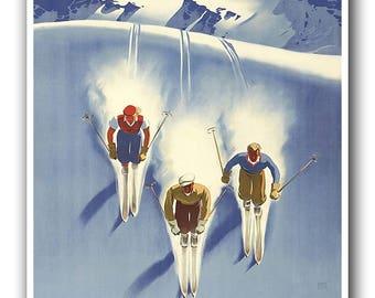 Austria Ski Poster Travel Print Wall Art (XR137)