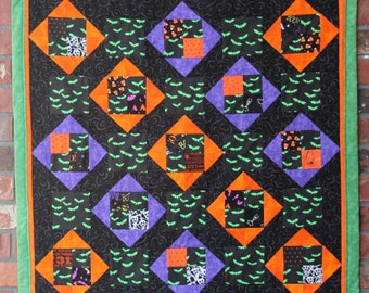 Batty Quilted Wall Hanging