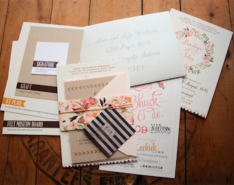 Wedding Sample Kit from Paper Peach