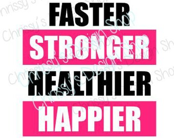 Inspirational SVG / fitness svg / running svg / resolution svg / inspirational dxf / quote svg / vinyl crafts / fitness clip art / happy svg
