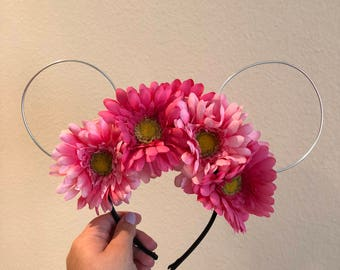 Pretty In Pink Wire Mouse Ears