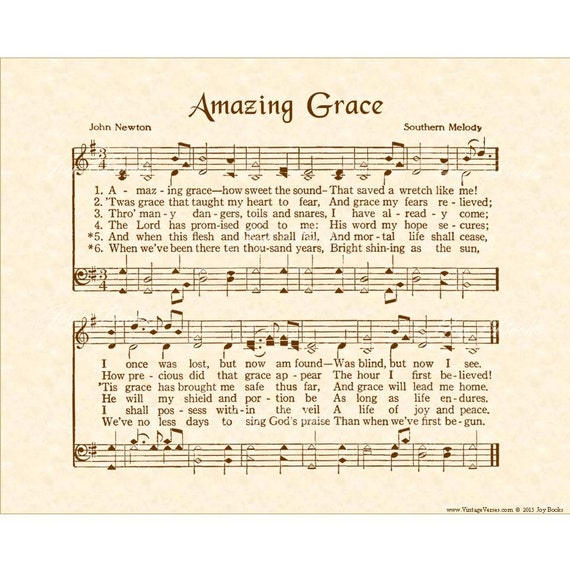 Amazing grace hymn art custom christian home decor for Amazing house music