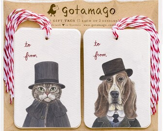 Shercat & Woofson Gift Tags, Set of 10