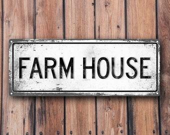 FARM HOUSE Metal Street Sign, Vintage, Retro    MEM2009