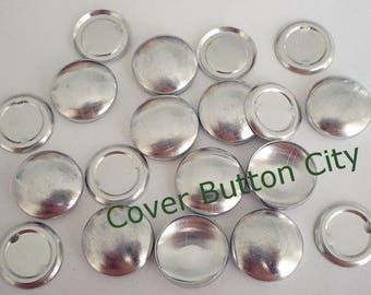 200 Size 30 (3/4 inch) Cover Buttons -Flat Backs