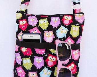 Owls  Crossbody Bag // Sling Bag // Crossbody Purse