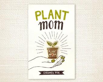 Enamel Pin - Plant Mom