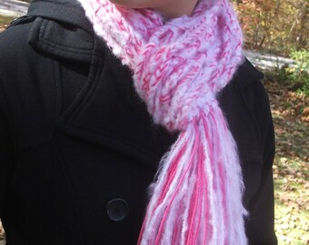 Instant Download PATTERN - Crochet a FAST and Elegant Chained Scarf, BEST use of beautiful variegated yarns- permission to sell
