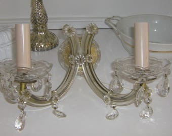 Antique Wall Crystal Lamp