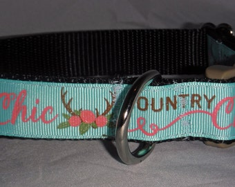 Country Chic Dog Collar
