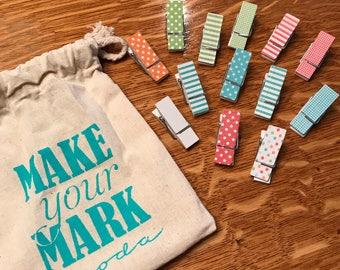 Brights Make Your Mark Clothespins Set