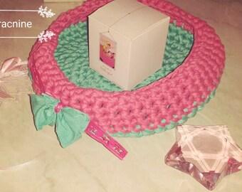 Basket in baby sling or bathroom decoration