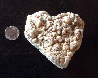 Heart Shaped Valentine Gift 100% Naturally Formed Lumpy Rock from our Creek