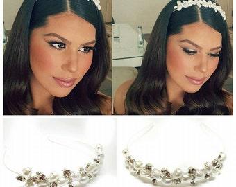 bridal Headband, Bridal Hair Accessoriesת head piece jewelery, swarovsky headpiece, Crown