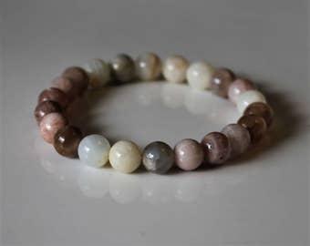 Moonstone Bracelet, Moonstone Jewelry, Stress Relief, Balance Hormones