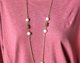 Golden beads with pearl