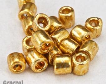 DBL410- 8/0 Galvanized Yellow Gold Delica Beads