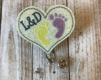 L&D Badge Reel   Labor and Delivery   Labor and Delivery Badge Reel   RN Badge Reel   ID Badge Reel   ID Badge Holder   Badge Reel