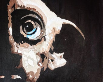 PRINT ONLY: Dobby The House Elf | Dobby| Harry Potter | House-Elf | Deathly Hallows | Fanart | Impressionistic | Gift Ideas | Fiction