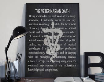 Veterinarian Gift For Veterinarian Oath Veterinarian Graduation Gift Vet Gift Vet Graduation Veterinary Wall Art Vet Wall Art Vet Posters