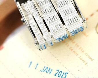 Roller Date Stamp - Day-Month-Year